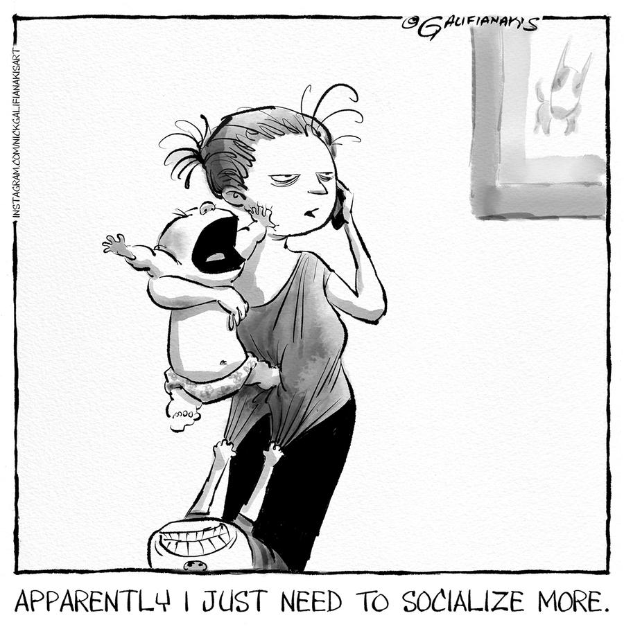 baby-juggling Nick
