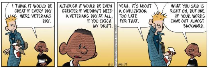 UDIC Frazz Veterans Day