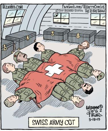 bizarro swiss army cot