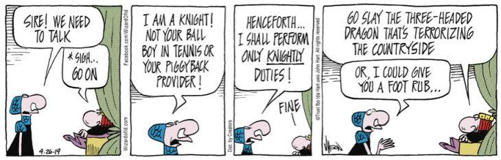 wizard of Id knight