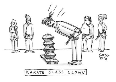 karate class clown