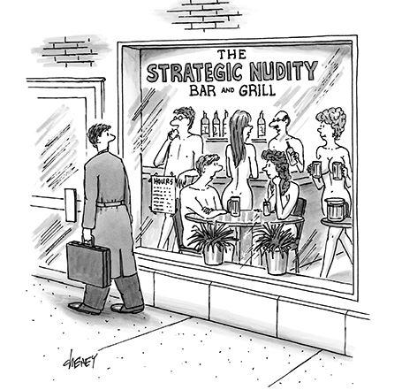 strategic nudity